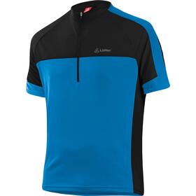 Löffler Pace Cykeltrøje m. 1/2 lynlås Herrer, brillant blue